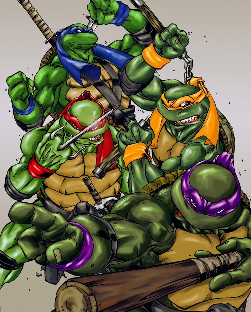 It is a graphic of Zany Teenage Ninja Turtle Pictures
