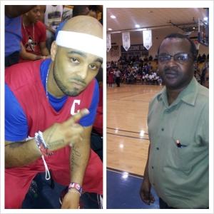 Y. Luck (right) Coach Ben (left)