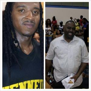 Squeaky Johnson (left), Coach Eddie (right)