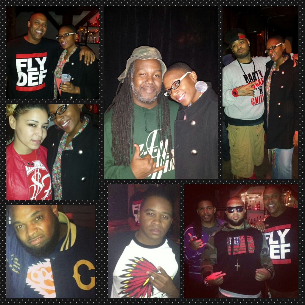 Wild Wayne (upper left), Super Fly Milli (center left), P Town Moe (bottom left), DJ EF Cuttin (upper center) B Streezy (lower center), Y. Luck (upper right), Sess 4-5, Wild Wayne, and Dee Jay Juice (lower right)